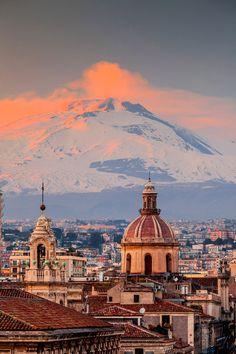 Winter Sunset, Catania #Italy #travel