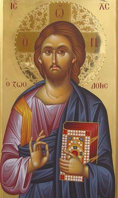 Christ the Giver of Life. Byzantine Icons, Byzantine Art, Savior, Jesus Christ, Christ Pantocrator, Roman Church, Religious Paintings, Catholic Art, Guardian Angels