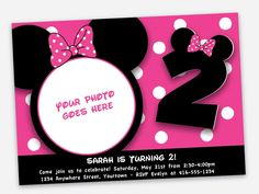 Mickey Minnie Mouse Birthday Party Invitations - Printable File. $14.99, via Etsy.