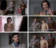 "11x08 Just My Imagination [gifset] - ""Pull up! Pull up!"" - Sam & Dean Winchester, Sully; Supernatural - could not stop laughing!!"