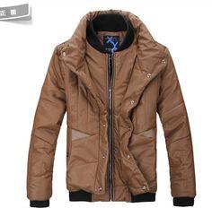 Stand Neck Zipper Slim Cotton Casual Men Yellow Coat M/L/XL/XXL@SJ21938y
