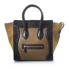 Celine Mini Luggage Tote ❤ liked on Polyvore