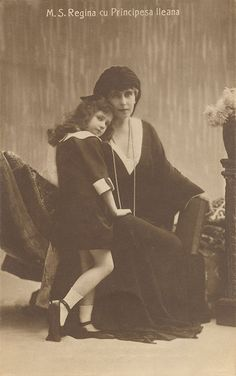 PRINCESS Ileana and her mother the youngest daughter of King Ferdinand I of Romania, and his consort Queen Marie of Romania. She was a great-granddaughter of Queen Victoria and of Czar Alexander II