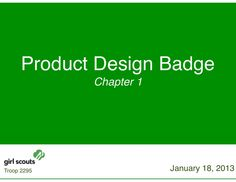 Girl Scout Product Design Presentation