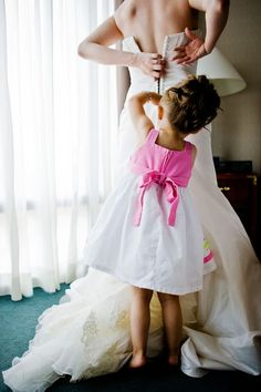 Great wedding photo to have with my flower girl on my wedding day!