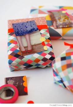 Make lovely gift tags from magazine pages