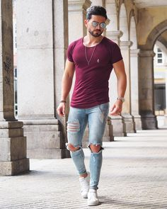 37 Cool Spring Casual Outfit for Men You Must Have Casual Wear, Casual Outfits, Men Casual, Fashion Outfits, Fashion Trends, Cochella Outfits, Sweatpants Outfit, Moda Men, Men With Street Style