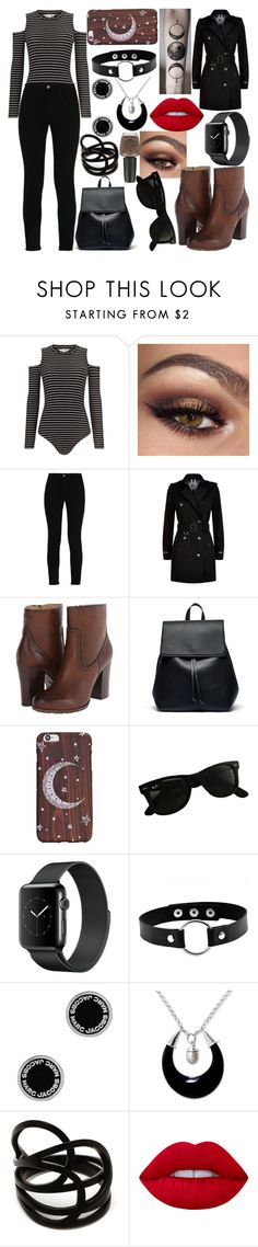 """Untitled #457"" by becca-h-c ❤ liked on Polyvore featuring Miss Selfridge, STELLA McCARTNEY, Burberry, Frye, Sole Society, Ray-Ban, Marc Jacobs, NOVICA, Repossi and Lime Crime"