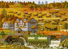 The Foxy Fox Outfoxes the Foxhunters - Charles Wysocki