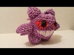 GENGAR (POKEMON FANTASMA ) DE ORIGAMI 3D - YouTube