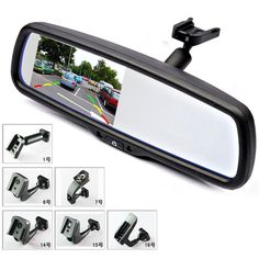 "4.3"" TFT LCD Car Rear View Bracket Mirror Monitor Parking Assistance With 2 RCA Video Player Input -- Click image to review more details."