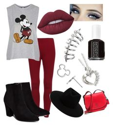 """Disney World"" by aceamy on Polyvore featuring Topshop, Billini, Lime Crime, Essie, Disney, Coach and rag & bone"