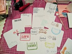 Inspiration: Making Your Own Journal Cards for Project Life with a Assembly Line Process