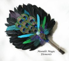 Custom made to order smudge fan from Moonlit Magic Elements. Starts at $15!