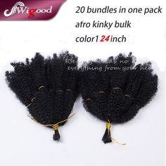 1PC Marley Hair Afro Kinky Bulk Beauty Collection Synthetic Hair Braids Bulk Hair For Braiding Marley Braid Hair Wigood