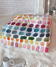 Love this Stephanie Corfee Color Palette Floor Pillow on #zulily! #zulilyfinds