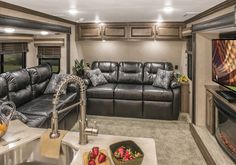 Front Living Room Fifth Wheel Toy Hauler Oh My Husband