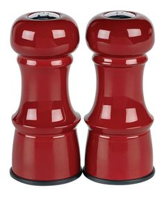 Red Salt & Pepper Shakers  - regularly $15, Zulily price $9.99 12/30/2013 - perfect for my red-accented kitchen!