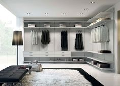 Love the clean lines here. I mostly need a ton of hanging space with a little bit of shelving. Wardrobe Furniture, Wardrobe Design Bedroom, Master Bedroom Closet, Wardrobe Closet, Home Spa Room, Home Decor Bedroom, Walk In Closet Design, Closet Designs, Home Room Design