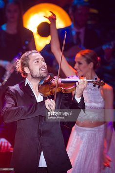 David Garrett and members of the Deutsches Fernsehballett perform during the 'Heiligabend mit Carmen Nebel' TV show at Bavaria Filmstudios on November 26, 2015 in Munich, Germany.