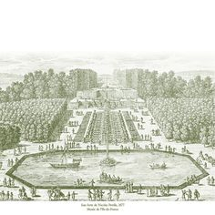 Fontainebleau jardin france plan chateau fontainebleau for Perspective jardin 78