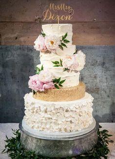 Featured Cake: Sugar Bee Sweets Bakery; Wedding cake idea.