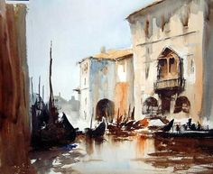 Painting from Edward Seago. British painter.