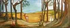 Woodland animal scene