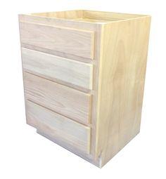 "Surplus Building Materials - Unfinished Bathroom Vanity Drawer Base Cabinet 24"", $197.18 (https://www.sbmtx.com/unfinished-bathroom-vanity-drawer-base-cabinet-24/)"