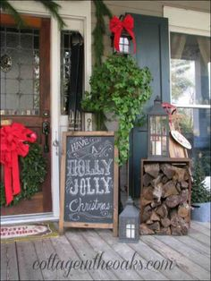 diy front door christmas decorations
