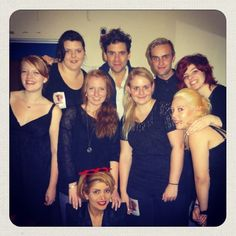 Mika with fans who were in one of his polka dot choirs in Copenhagen, DENMARK - 29 October 2012