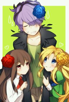 Ib ( Garry, Ib & Mary ) sadly Mary is insane Rpg Maker, Maker Game, Ib And Garry, Rp Games, Manga Anime, Anime Art, Alice Mare, Mad Father, Best Rpg