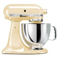 Kitchen Aid mixer in Almond Cream - this is the one, perfect a classic! Champagne would work too
