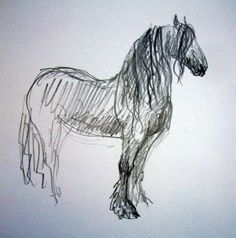 pencil drawing of friesian. Horse Pencil Drawing, Horse Drawings, Animal Drawings, Art Drawings, Animal Sketches, Art Sketches, Horse Sketch, Horse Artwork, Creature Drawings