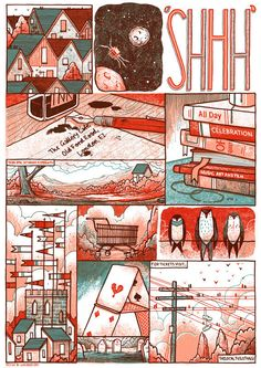 SHHH Quiet Music Festival Poster  London 2012 by LukeDrozd on Etsy