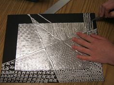 3rd Grade - Actual and Implied Texture - Foil and Silver Sharpie
