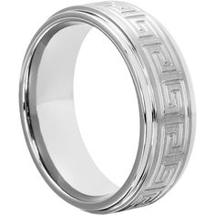 Purchase Greek Key Tungsten rings from Forever Metals at a low price. Tungsten Greek Key wedding bands come standard with step down edges and brushed finish.