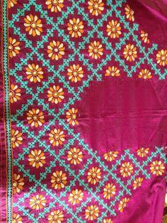 Tussar Silk Dupatta With Sindhi Embroidery 92 Inx 41 In