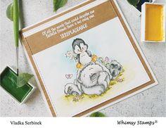 Medtem ko Whimsy stamps že predstavlja novo kolekcijo štampiljk , sem se jez poigravala z eno iz prejšnje izdaje. Pingvini so že skoraj za...