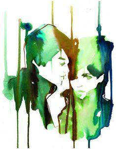 Watercolour : Stina Persson