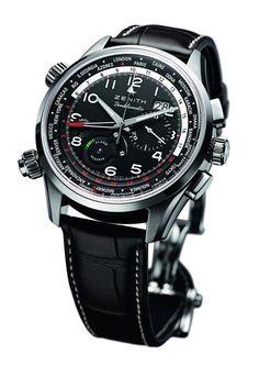 ZENITH Pilot Doublematic WorldTime Watch