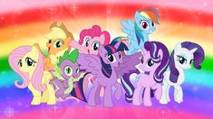 The Mane Seven and Spike 2 by AndoAnimalia on DeviantArt - New Sites My Little Pony Twilight, Arte My Little Pony, My Little Pony Costume, My Little Pony List, My Little Pony Cartoon, Little Pony Party, My Little Pony Drawing, My Little Pony Pictures, My Little Pony Friendship