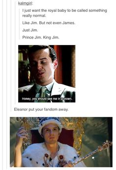 We could insert Mycroft as the Queen in there somewhere...