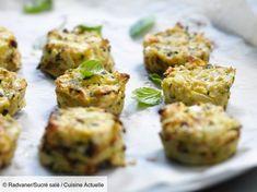 Recette Bouchées de courgettes à la feta. Ingrédients (6 personnes) : 2 courgettes, 10 feuilles de basilic, 100 g de fromage blanc... - Découvrez toutes nos idées de repas et recettes sur Cuisine Actuelle