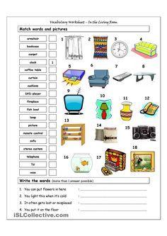 english worksheet furniture vocabulary grundschule terapia da fala educa o und terapia. Black Bedroom Furniture Sets. Home Design Ideas