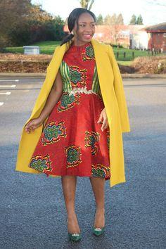 Danya Dress ~African fashion, Ankara, kitenge, African women dresses, African prints, African men's fashion, Nigerian style, Ghanaian fashion ~DKK