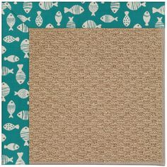Capel Zoe Green/Brown Area Rug Rug Size: Square 10'