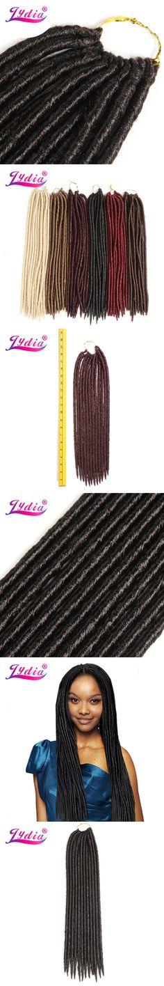 Lydia Soft Dreadlock 3Pcs/Lot Crochet  Braiding Synthetic Hair Extensions 24strands/pack Crochet  Braided Bundles Blonde