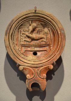 Roman oil lamp with erotic scene -- Ancient #History Encyclopedia