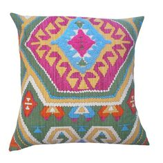 Taourirt Pillow. Pretty colors.